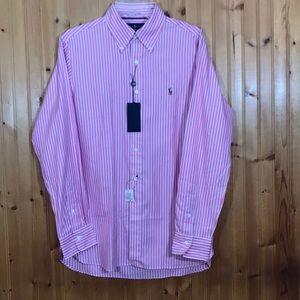 NWT Ralph Lauren Pink&White Striped Classic Shirt